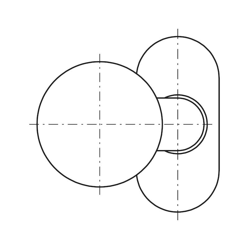 Круг. дверная ручка, тип D - DH-A2-KNOB-TYP-D-PIVOTED-9MM-MATT