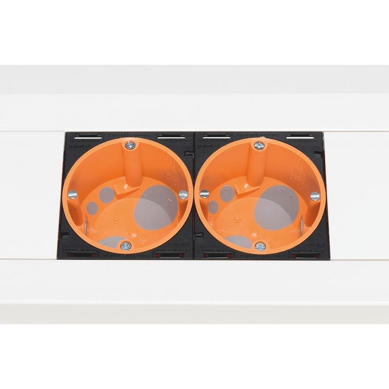 Hohlwanddosen-Adapter für Brüstungskanal BR 80 - 0