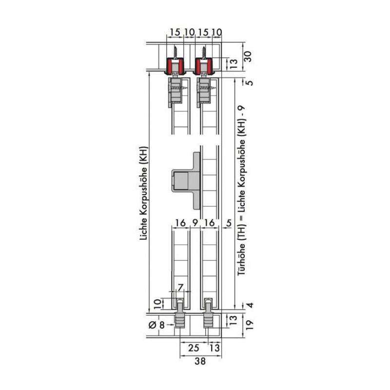 Schiebetürbeschlag-Set redoslide M15-HE - 2