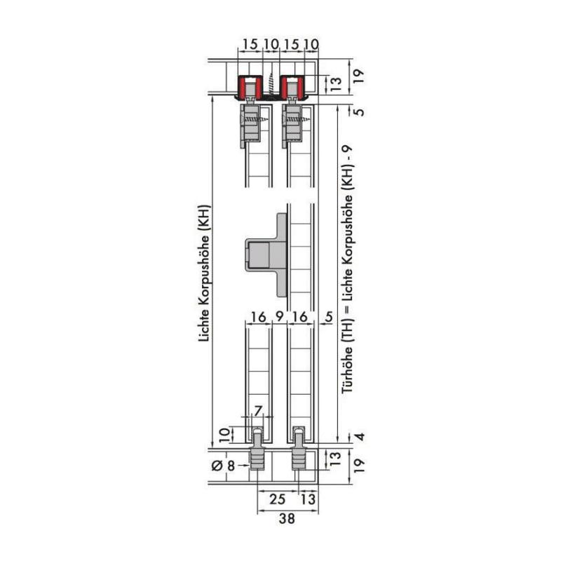 Schiebetürbeschlag-Set redoslide M15-HE - 3