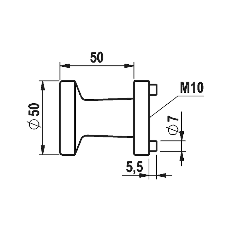 Türdrücker  A 205 - TD-A2-A205-CLICKFIX-ROS-WE-PZ-R/L-MATT