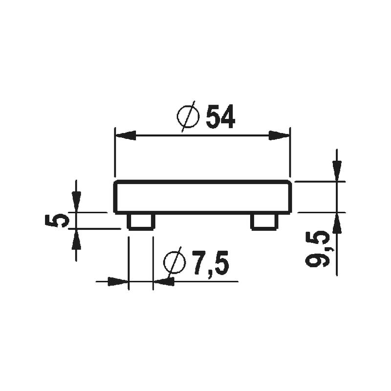 Türdrücker A 115 - TD-A2-A115-ROS-WE-PZ-L-MATT