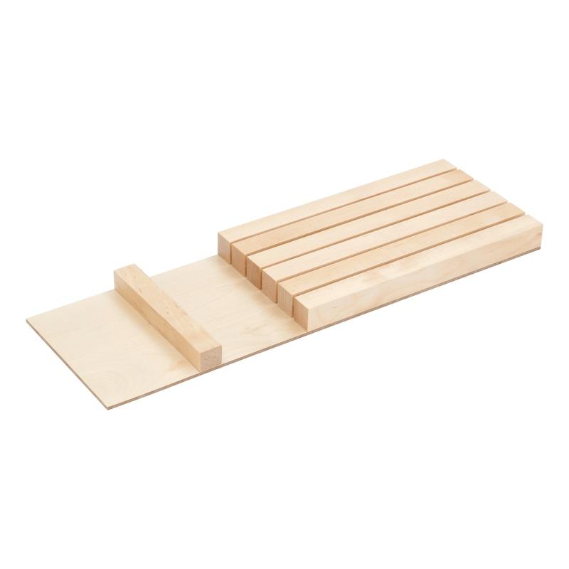 Bloc de couteaux pour range-couverts, bois - RANGE-COUTEAUX BOIS 423,5 X 137,5MM