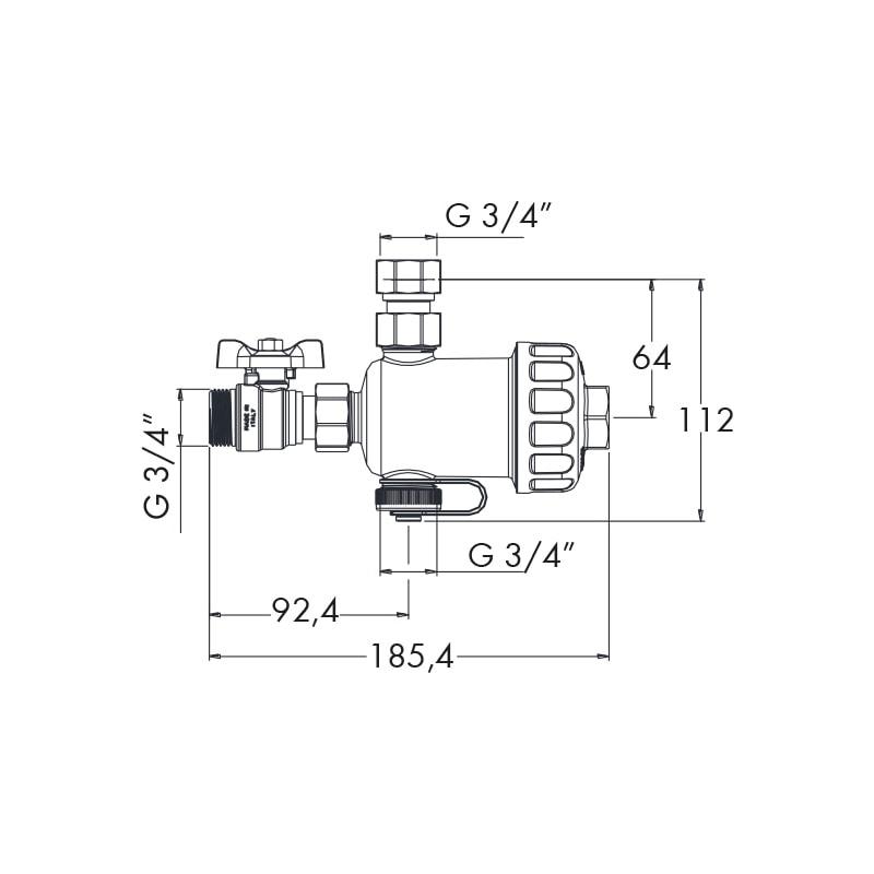 Filtro defangatore magnetico sotto-caldaia W-COMPACT - 2