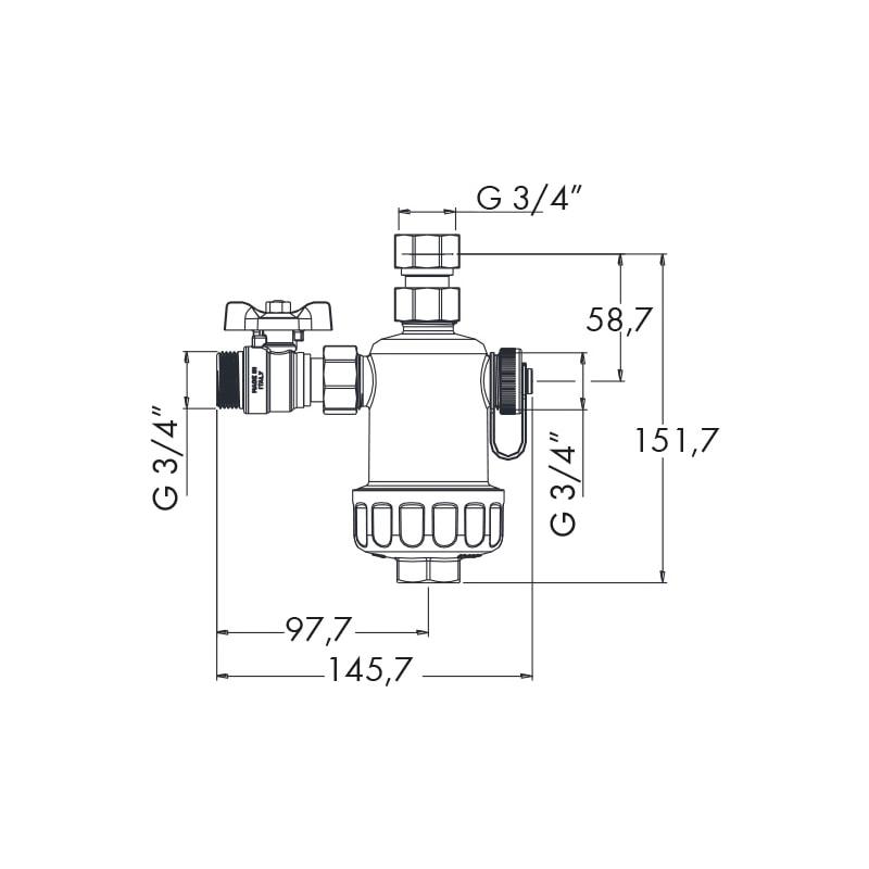 Filtro defangatore magnetico sotto-caldaia W-COMPACT - 3