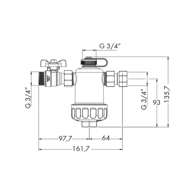 Filtro defangatore magnetico sotto-caldaia W-COMPACT - 4