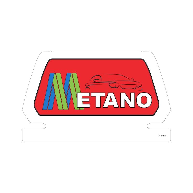 """Cartello magnetico  """"METANO"""" - 1"""