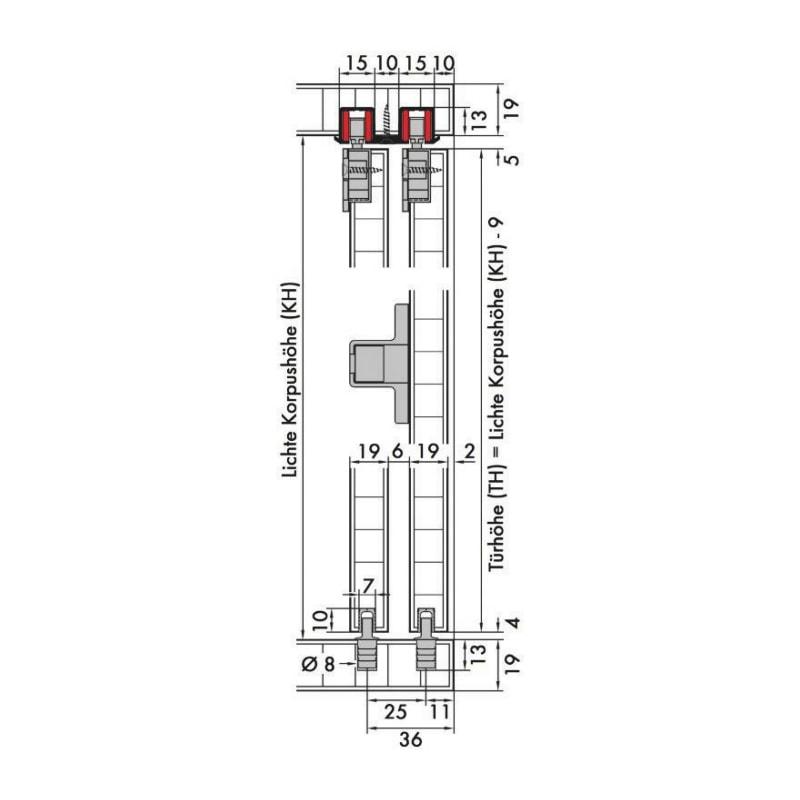 Schiebetürbeschlag-Set redoslide M15-HE - 5