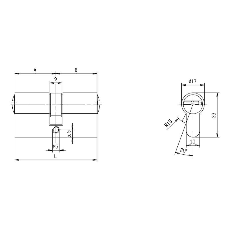 Profil-Doppelzylinder W10KG - 2