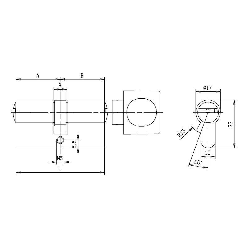 Profil-Knaufzylinder W10KG - 2