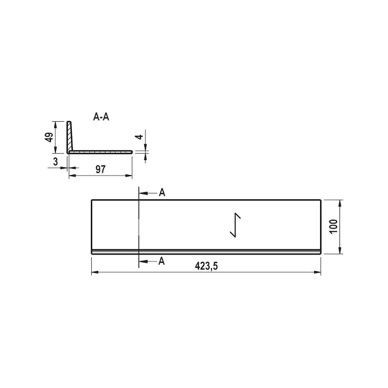 Breitenerweiterung für Besteckeinsatz Holz - 2