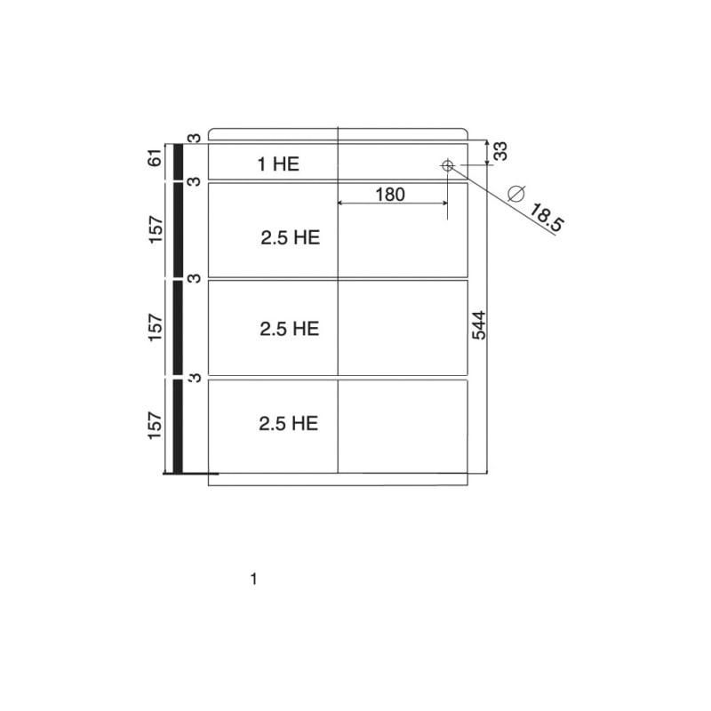 Bürocontainer-Ausstattungsset OrgaAer - ORGASYS-TA-ST-SCHWARZ-HE8,5-740MM