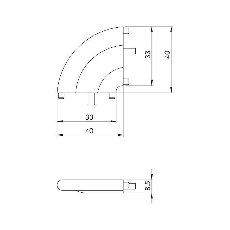 Verbinder 90° für LED Stableuchte - 0