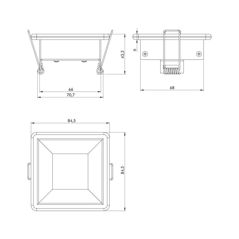 Power-LED Einbauleuchte Glas - 2