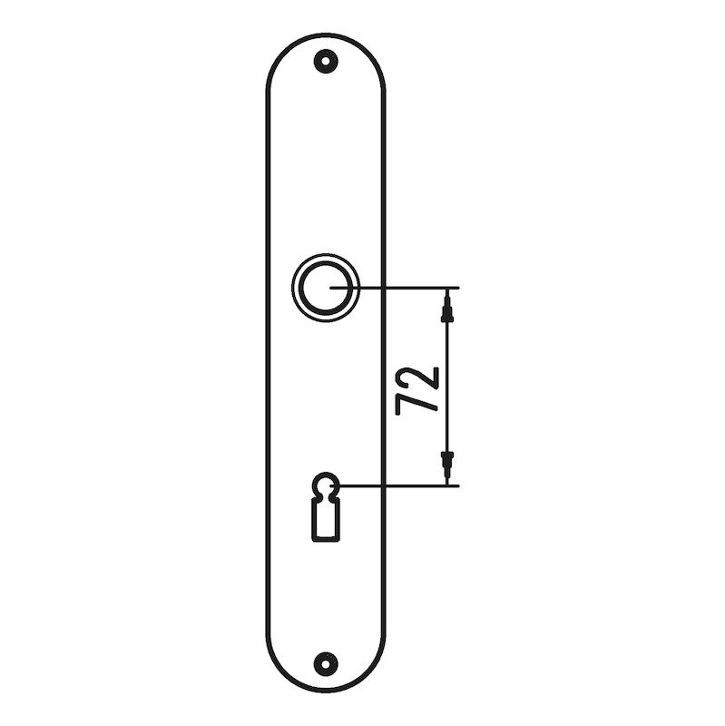 Langschildpaar AL 12 - TD-ALU-AL12-LANGSHLD-OVAL-BB-F9/(A2-OPT)