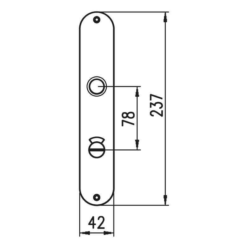 Langschildpaar AL 12 - TD-ALU-AL12-LANGSHLD-OVAL-WC-F1/SILBER
