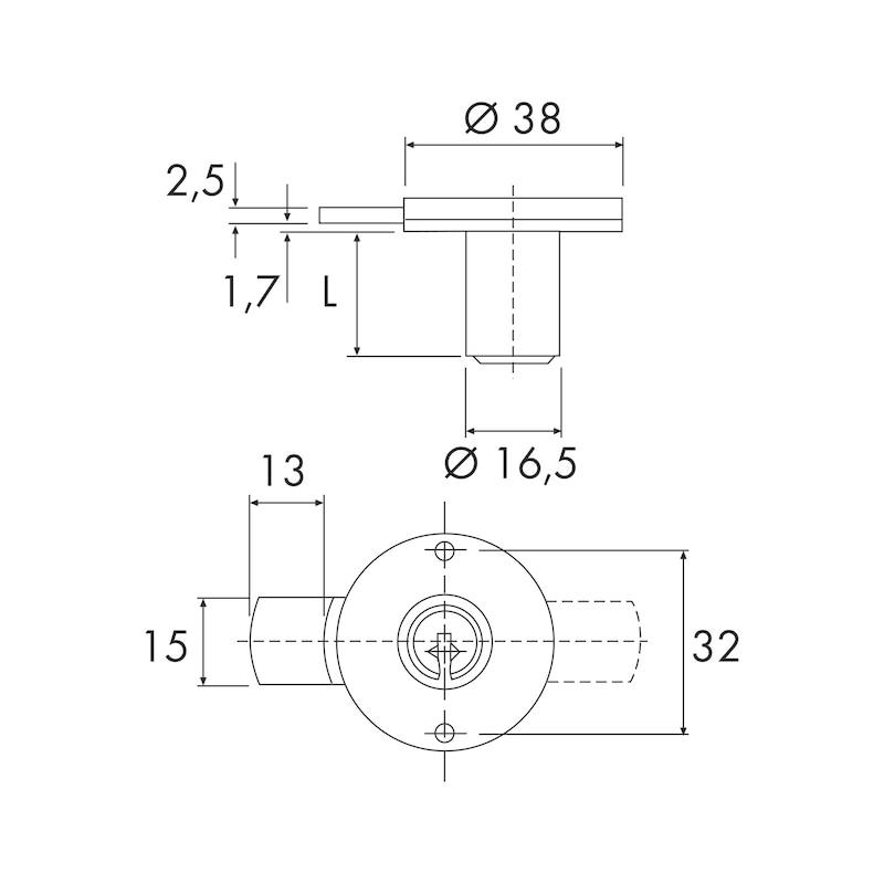 Serratura per mobile a cilindro con chiusura  - 2