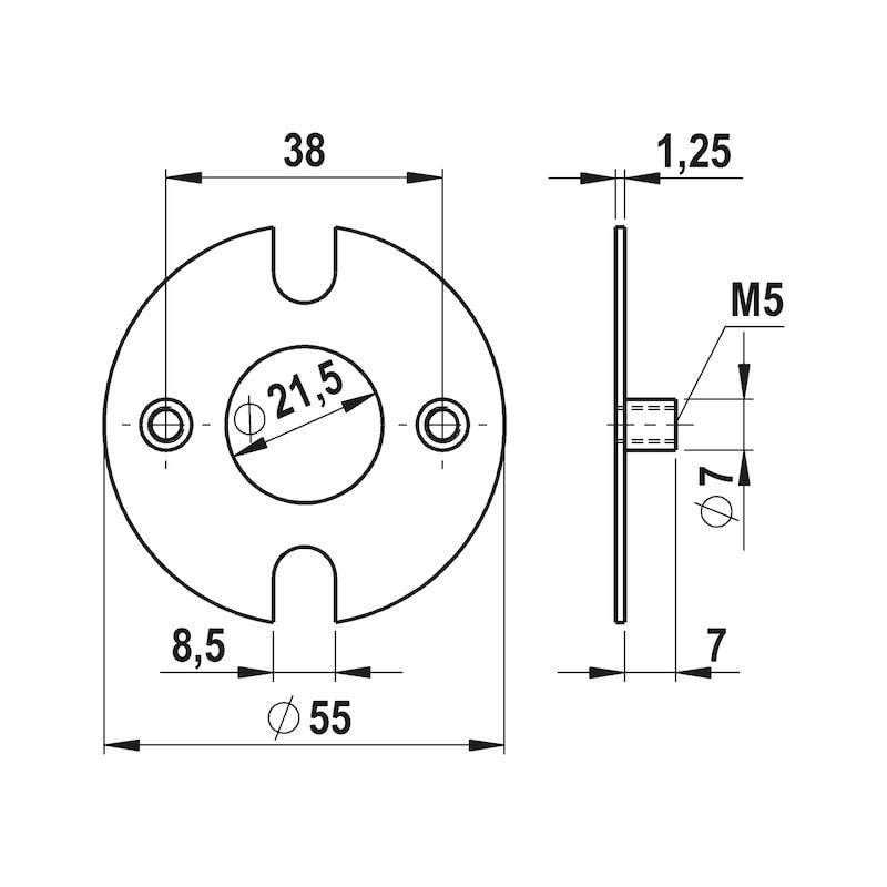 Montageplatte - 2