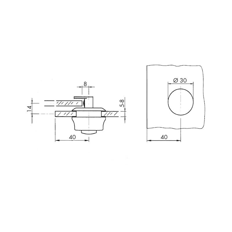 Wechselbares Zylinderschloss für Glasschiebetüren - 2