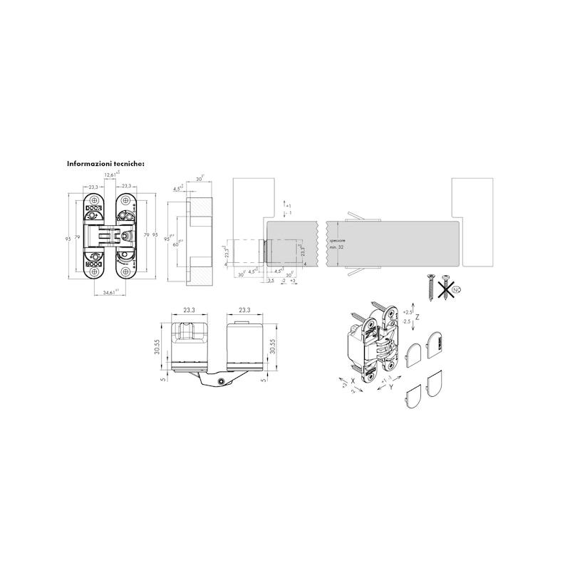 Cerniera invisibile regolabile 3D NEW SPIRIT 40 - 2