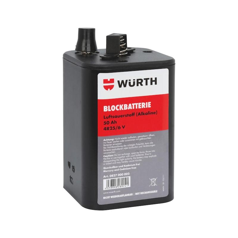 Pile rectangulaire - BLOC BATTERIE 6 V / 50 AH