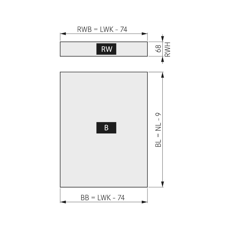 Kit de tiroirs DWD XP Soft-Close - 4