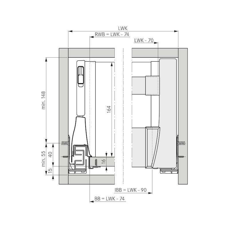Blendenprofil für Innenschubkasten  - 4