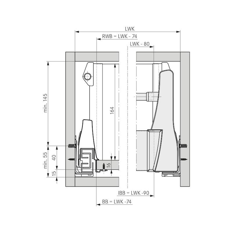 Blendenprofil für Innenschubkasten  - 5