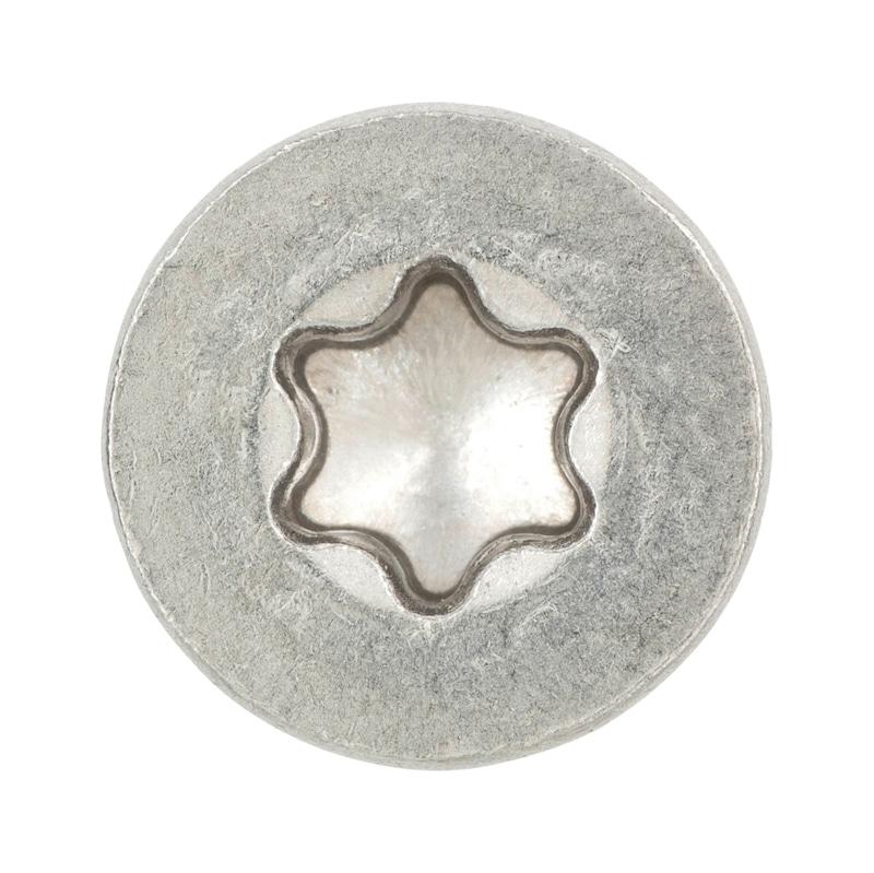 Parafuso rosca de chapa com cabeça de embeber, forma C, com fenda TX - 3