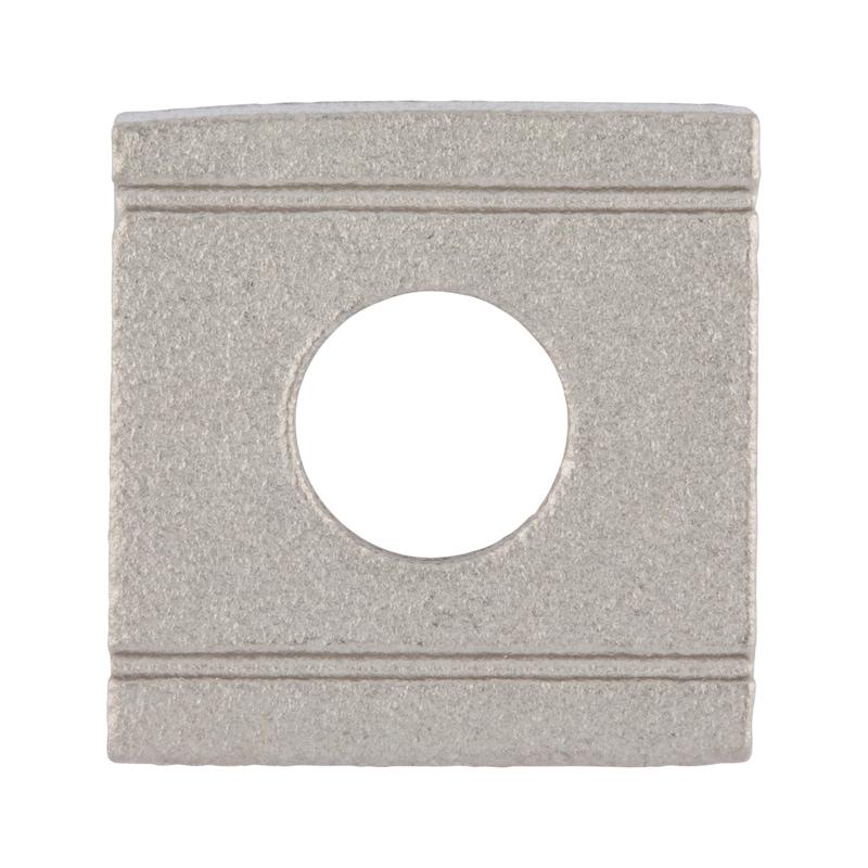 Piastrina quadra, conica per profili ad U - 1