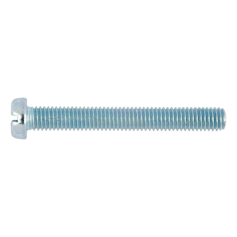 すり割り付き円頭ネジ - TP(-)ビス ユニクロ 6X12MM