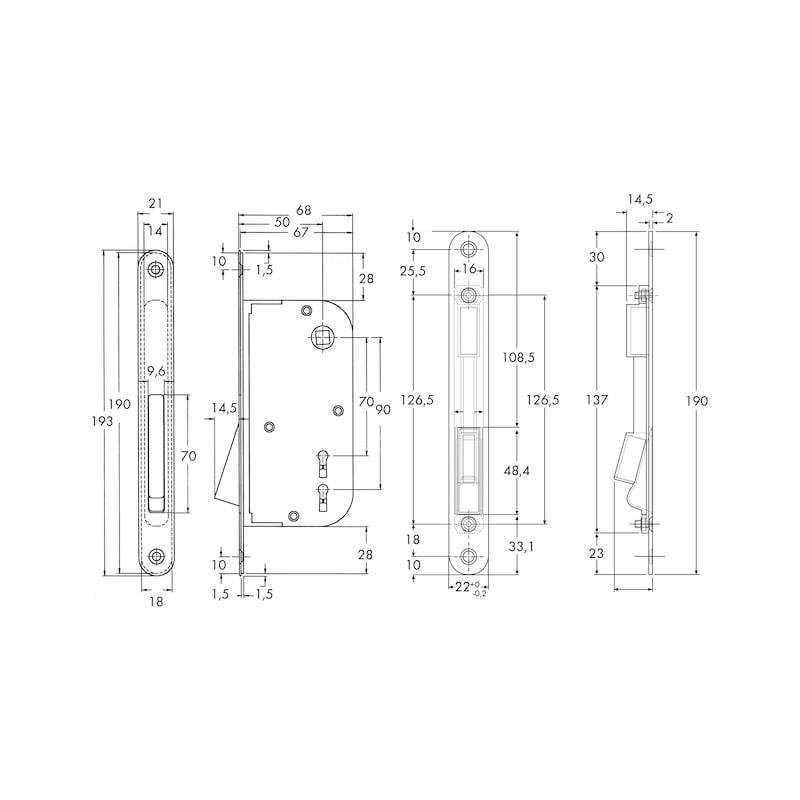 Serratura magnetica per porte - 2