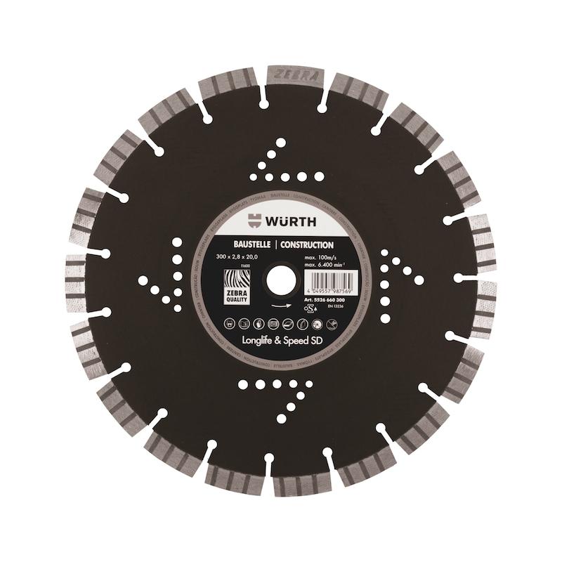 Diamanttrennscheibe Longlife & Speed SD Baustelle - TSHB-DIA-LS-SD-BAUSTELLE-BO20,0-D300MM