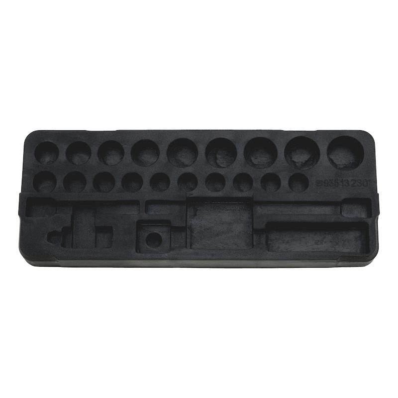 Hartschaumeinlage für 1/2 Zoll Steckschlüssel Sortiment - SCHAUMEINLG-096513230