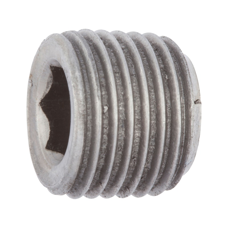 Verschlussschraube mit Innensechskant, kegeliges Gewinde Zoll - 1