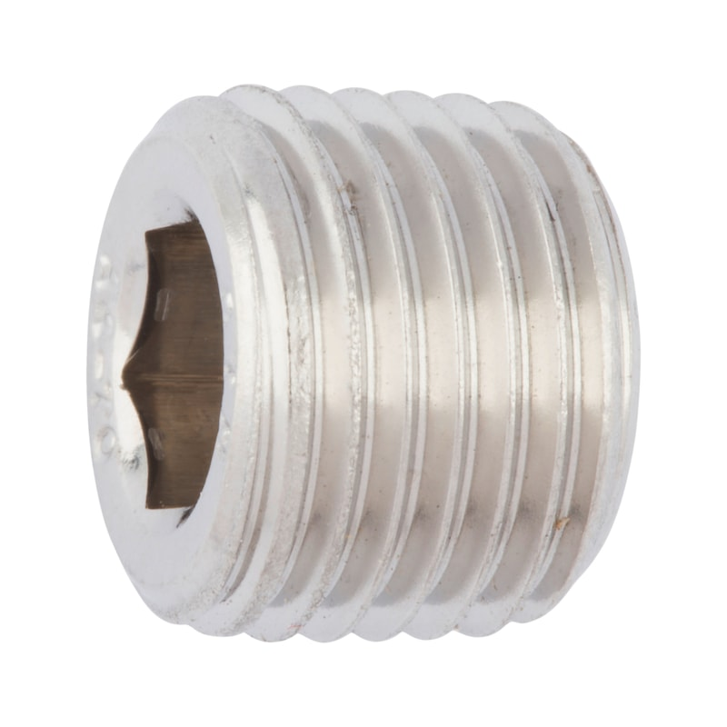 Verschlussschraube mit Innensechskant, kegeliges Gewinde - 1