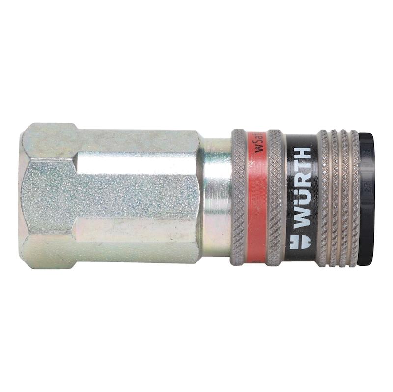 Druckluft Sicherheitskupplung wSafe<SUP>®</SUP> 3000 mit Innengewinde