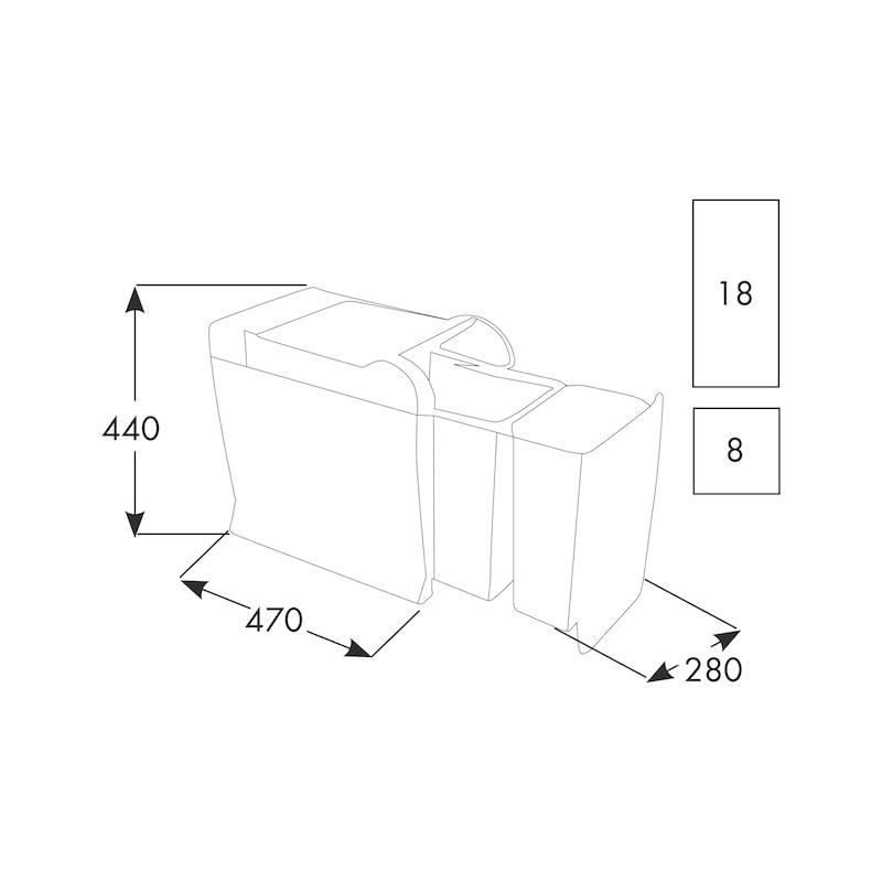 Sistema di raccolta differenziata ECO 40 - 2