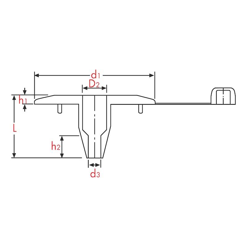 Stützteller für thermisch-akustische Dämmplatten W-DT - 1