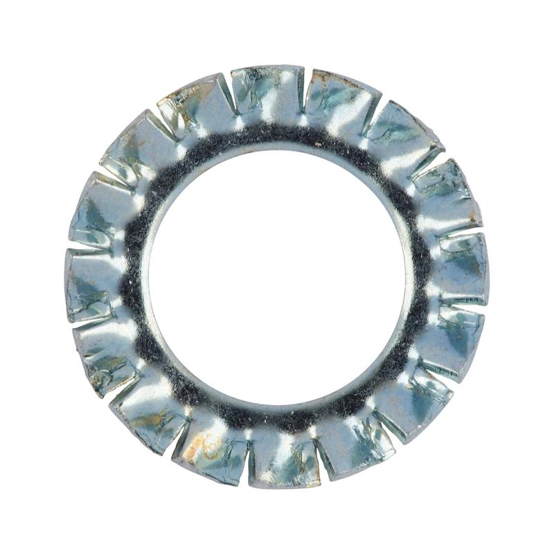 ギザ歯付きロックワッシャー、外側ギザ付き、A型 - ロックワッシャー ギザ ZN DIN6798 M5