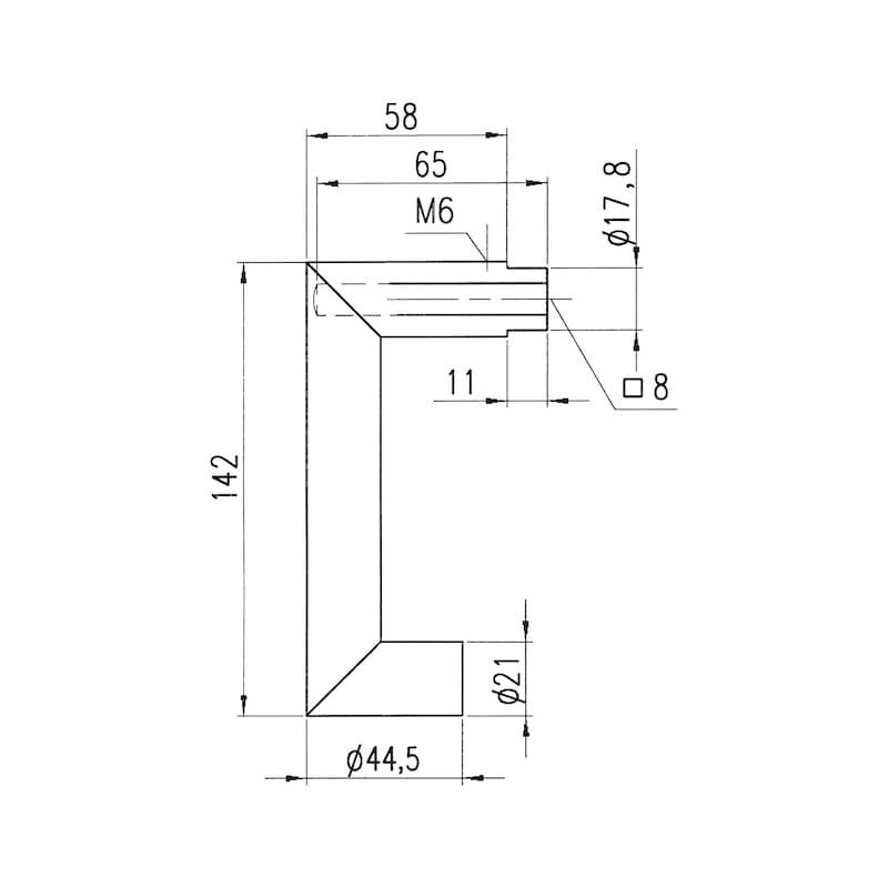 Türdrücker A 607 - TD-A2-A607-ROS-PZ-L/R-MATT