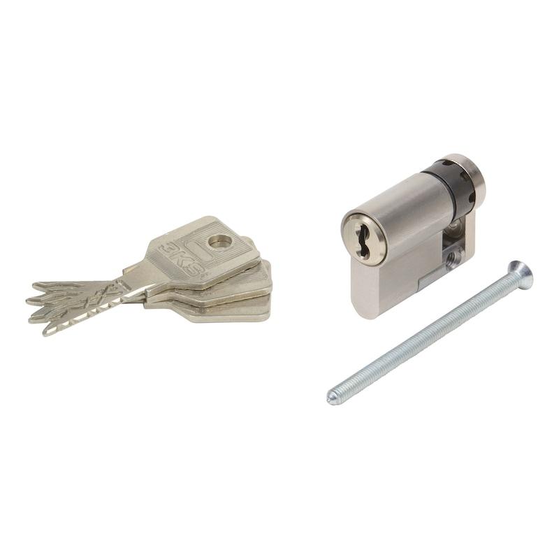 Profil-Halbzylinder 3KS Plus - HALBZYL-3KS-PLUS-GS-ERSTANL-(NI)-52X10MM