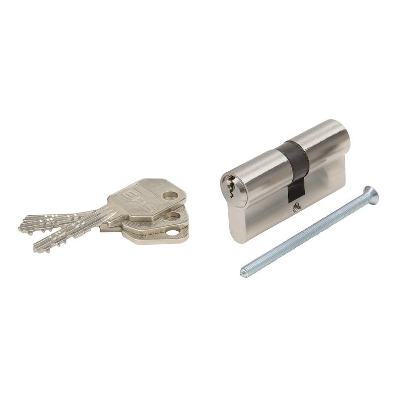 Profil-Doppelzylinder EPS - DPZYL-EPS-GS-ERSTANL-BS-(NI)-41X41MM