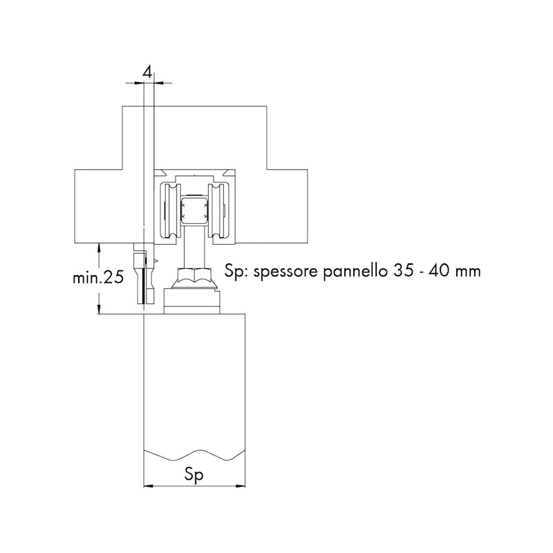 Kit chiusura automatica per porte scorrevoli esterne - 2