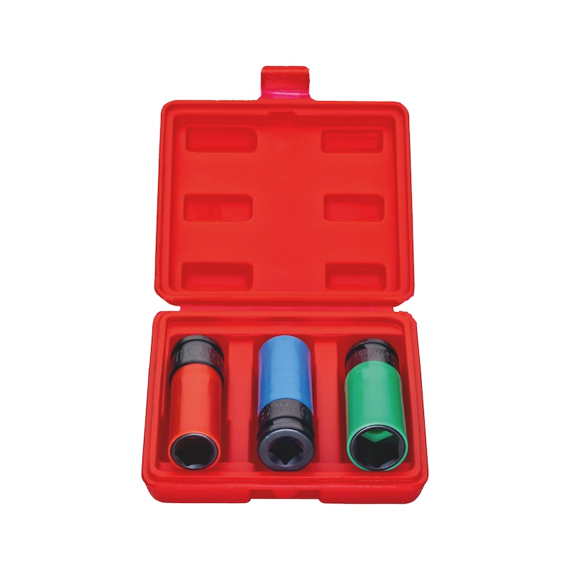 1/2 inch impact socket wrench set - 1