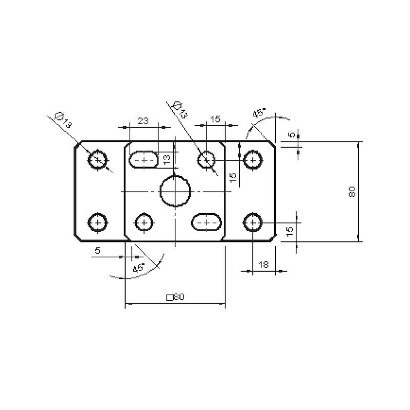 Pfostenträger D-D-H/R3R - 2