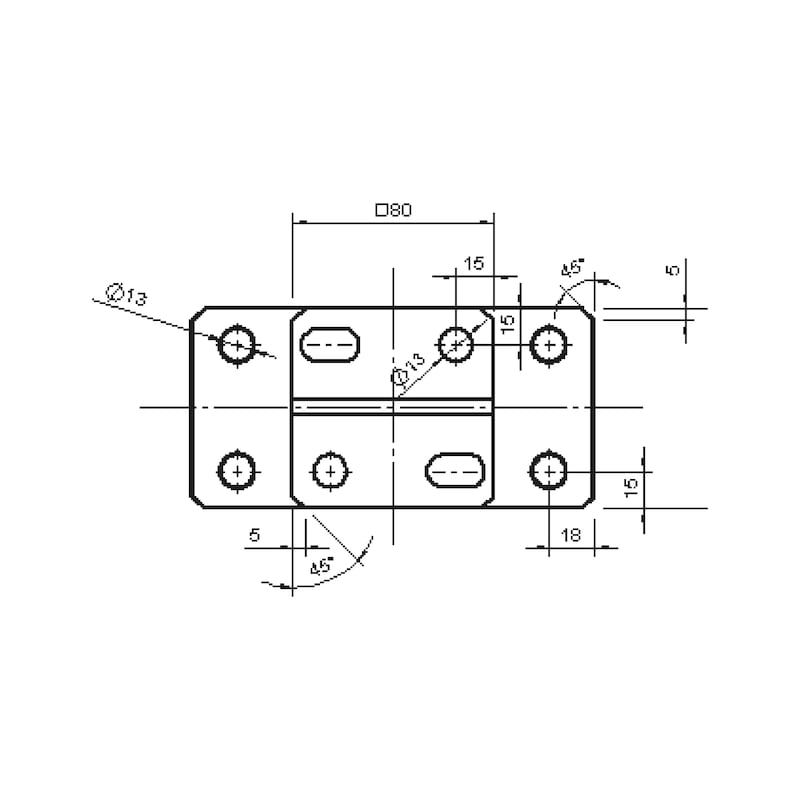 Pfostenträger D-S-H/R3R - 2