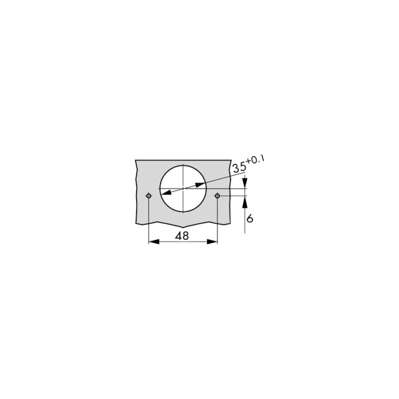 Cerniera per mobile Serie 1 -110° - CERN-S+-110GR-48-K09-TITAN