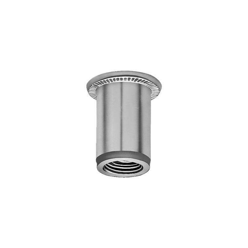 Insert taraudé en aluminium à tête plate - 1