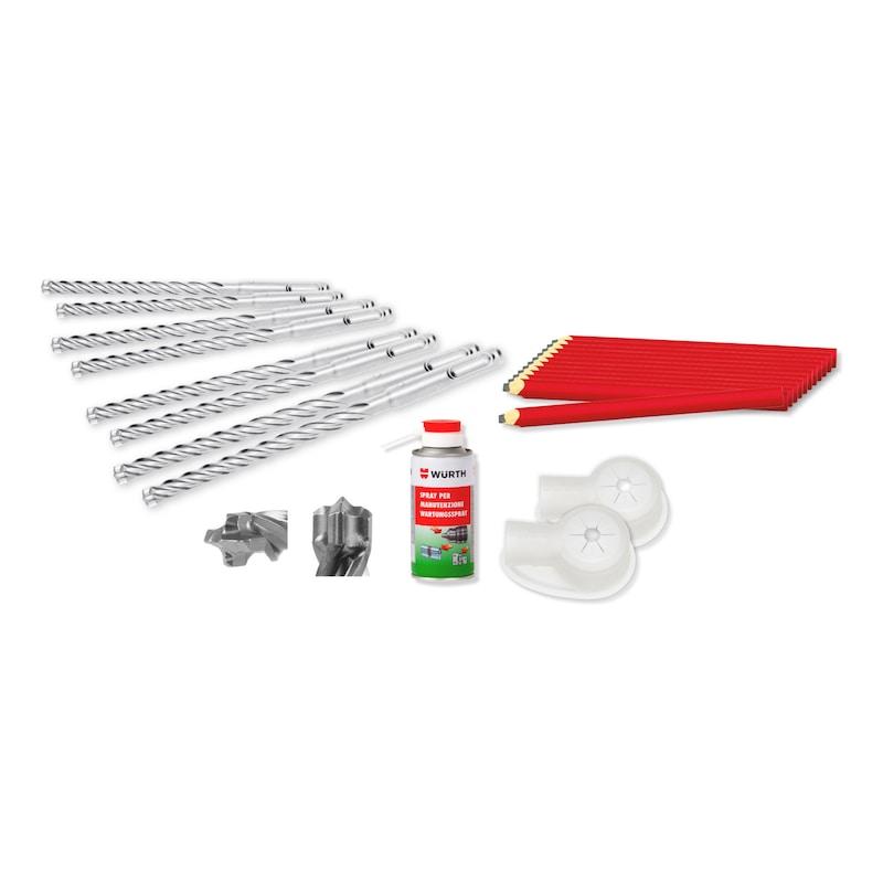 Kit lavorazione materiali 3 punte Zebra Plus - matite - spray manutenzione - cuffie aspirapolvere